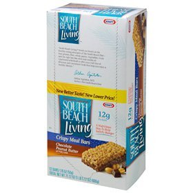 South Beach Living Meal Replacement Bars, Chocolate Peanut Butter, 1.76 -Ounce Bars (Pack of 12)