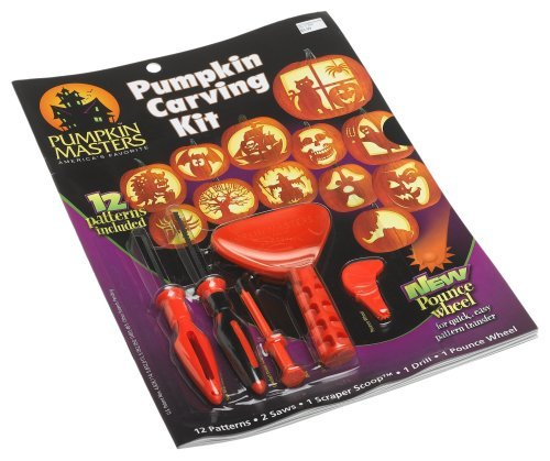 Pumpkin Masters Pumpkin Carving Kit with 12 Patterns & Tools